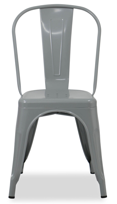 Retro Metal Chair (Grey)
