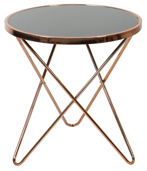 AS-IS Clearance: Carafa Regular Round Table Copper/Black