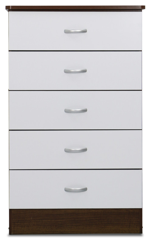 Kelsey Chest Of Drawers in Snow White and Walnut
