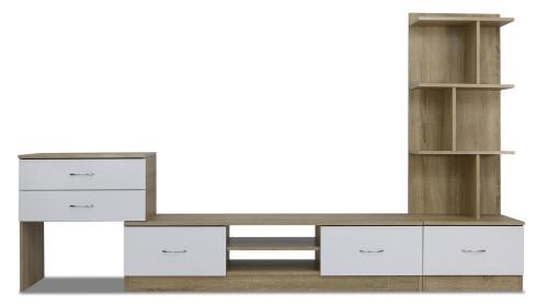 Reverso TV Cabinet (Snow White and Sonoma Oak)
