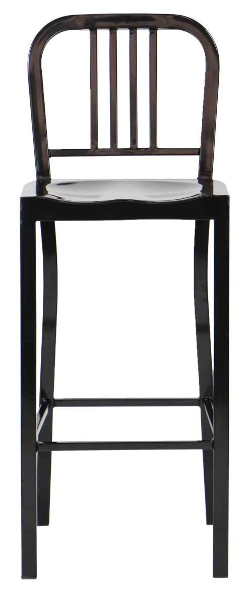Navy Metal Bar Chair (Black)