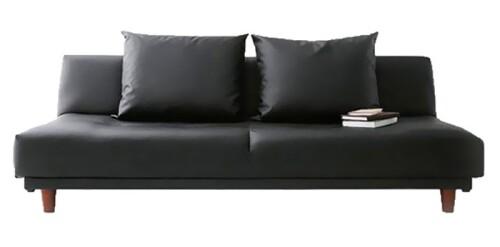 Sweden Sofa Bed (PVC Black)