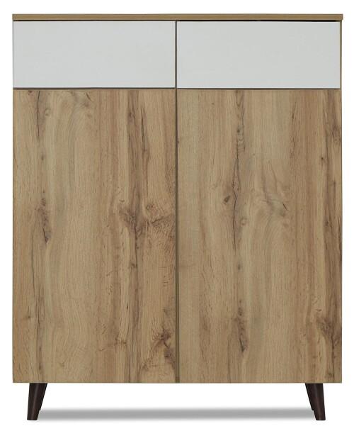 Mirjana Shoe Cabinet in Wotan Oak