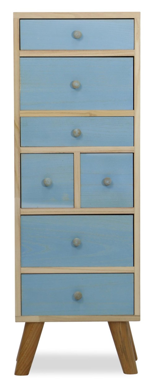 Plus-Eco Wooden Cabinet (SkyBlue)