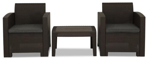 Nina 2 Seater Outdoor Sofa Set (Brown)