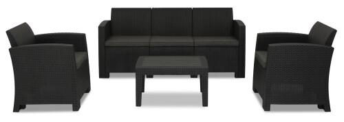 Nina 5 Seater Outdoor Sofa Set (Dark Grey)