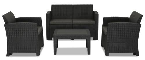 Nina 4 Seater Outdoor Sofa Set (Dark Grey)