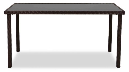 Wakiky Outdoor Dining Table Brown