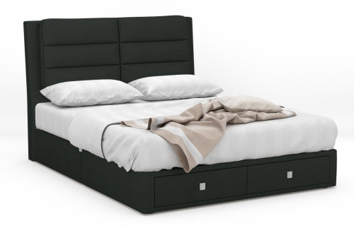 Leila Fabric Drawer Bed Frame