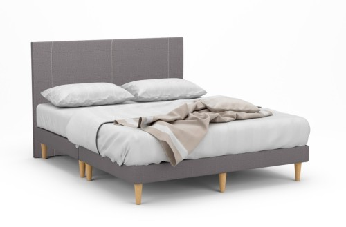 Bastrop Fabric Bed Frame With Beech Legs