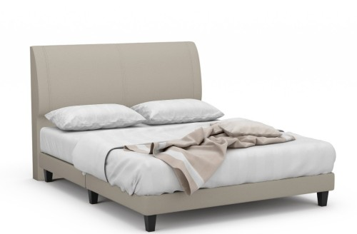 Cortina Fabric Bed Frame With Black Legs