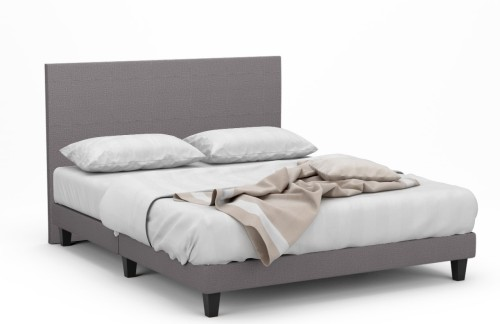 Delphine II Fabric Bed Frame With Black Legs