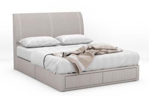 Seraphina Fabric Drawer Bed Frame