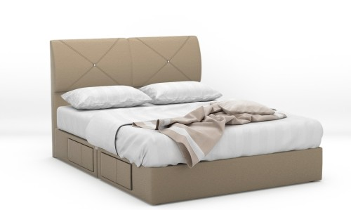 Dahila Faux Leather Drawer Bed Frame