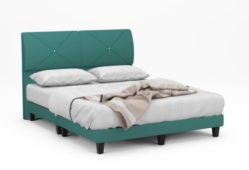 Andover Fabric Bed Frame With Black Legs