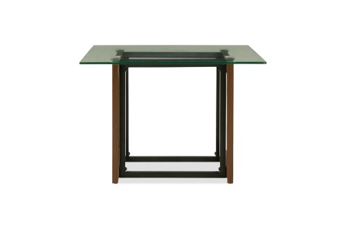 Kristopher Glass Coffee Table In Oak Leg