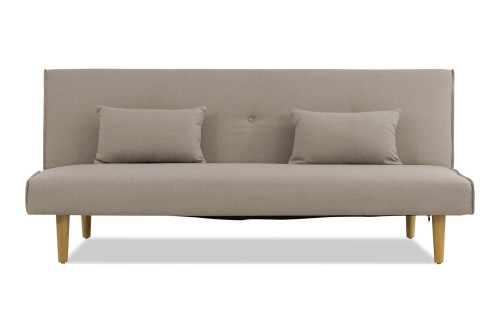 Lacel Sofa Bed with Cushions (Taupe Grey)