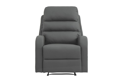 Seville Recliner (PU Dark Grey)