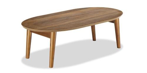 Payton Foldable Oval Coffee Table Walnut
