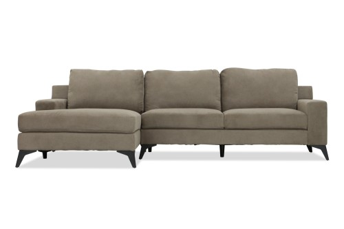 Tiffany 3 Seater L Shape-Rest Section on RIGHT Side when Seated (Taupe)