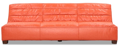 Anara 3 Seater in Vintage PU Orange