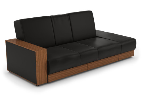 Sarai Storage Sofa Bed Pvc Black Furniture Home D Cor Fortytwo