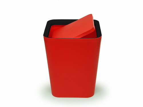 Mini Square Flip Bin (Red) By Qualy