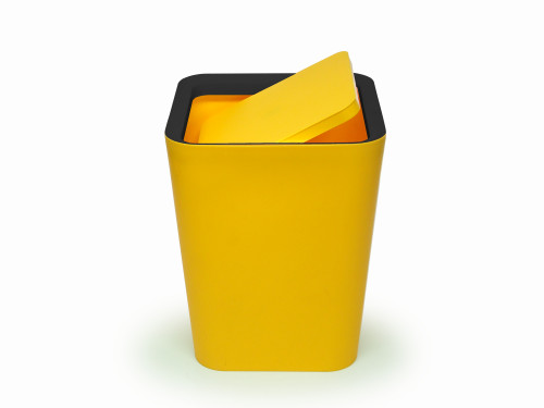 Mini Square Flip Bin (Yellow) By Qualy