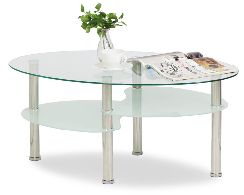 Krystal Eclipse Tempered Glass Coffee Table