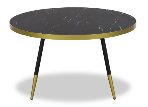 Noveau Coffee Table in Black Marble