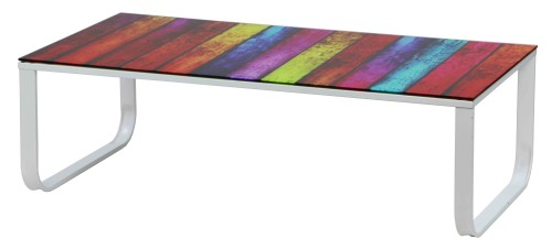 Iris Rainbow Tempered Glass Coffee Table