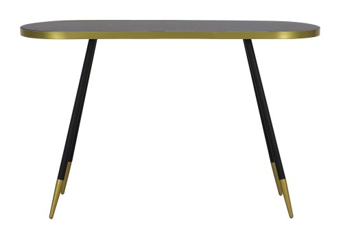 Silvia Console Table in Black Marble