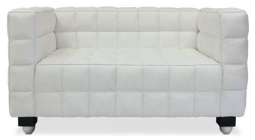 Berdina Verve 2 Seater PU Leather Sofa (White)