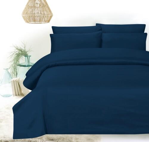 Hillcrest - Comfylux Solid 900TC Fitted Sheet Set - Sailor Blue