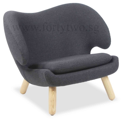 Designer Replica Pelican Chair In Charcoal Furniture Home D Cor Fortytwo
