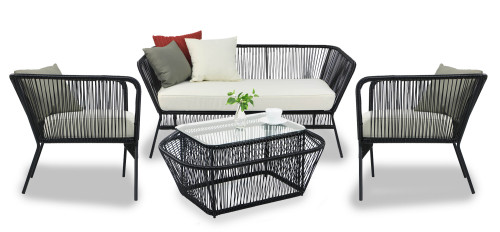 Black Spinel Patio 4 Seater Set
