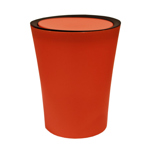 Mini Round Flip Bin (Orange) By Qualy