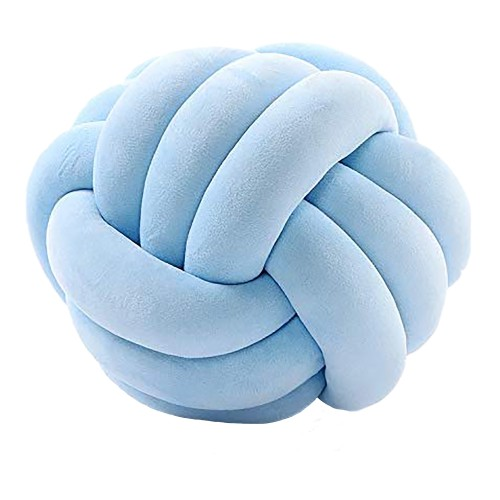 Delos Knot Cushion (Pastel Blue)