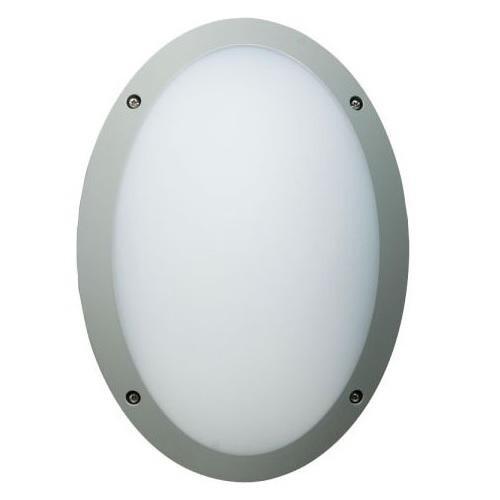 Megaman FONDA 10.5w (Grey) Oval Outdoor Bulkhead / 4000K / Coolwhite