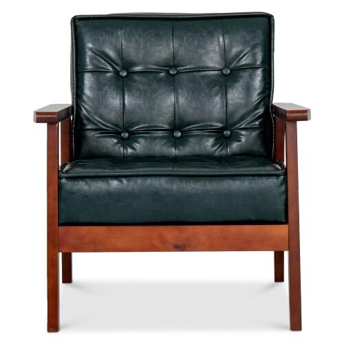 Hans 1 Seater Sofa (PU Dark Green)
