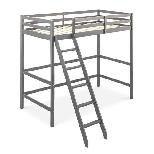 Lucine Loft Bed (Single, Grey)