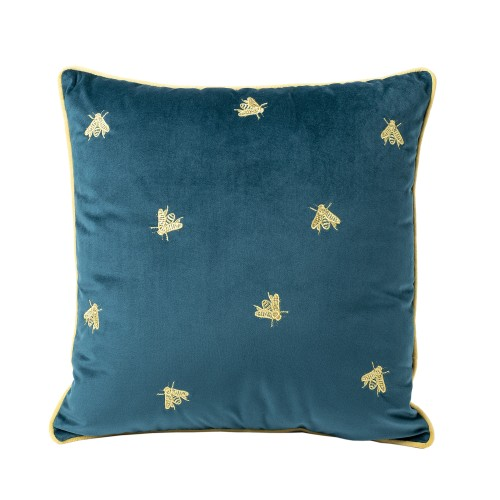 Dolph Velvet Cushion (Gold Bee Embroidery)