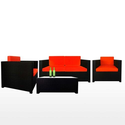 Fiesta Sofa Set II, Orange Cushion