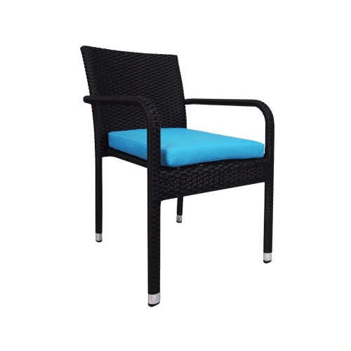 Jardin Outdoor Dining Chair with Blue Cushion