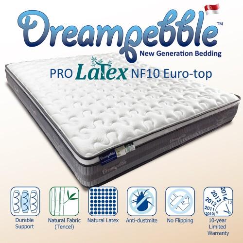 Dreampebble Pro Latex Euro-Top Non-Flip Mattress