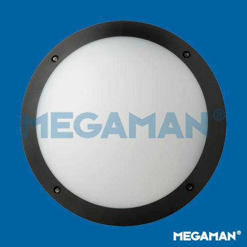 Megaman FONDA 10.5w (Black) Round Outdoor Bulkhead