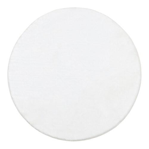Coella Faux Fur Carpet - Round (Cream)