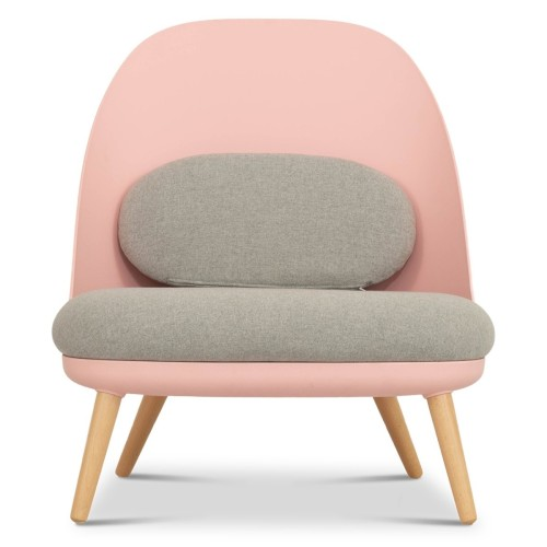 Aldora Chair in Pink and Light Grey
