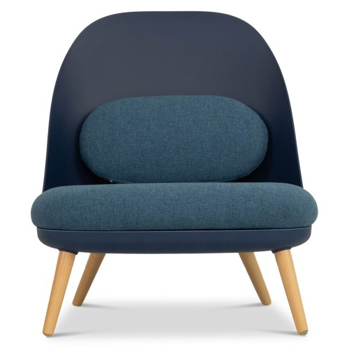 Aldora Chair in Navy and Cobalt