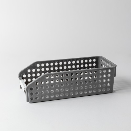 Torie II Storage Basket W/ Round Holes (Grey)